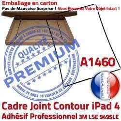 Cadre Ecran Tactile Adhésif Vitre Tablette Autocollant Contour 4 Réparation Châssis Joint Noir Precollé Plastique N Apple A1460 iPad