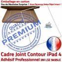PACK iPad4 iLAME Joint B HOME Adhésif Réparation PREMIUM Vitre Verre Apple Outils Precollé Tactile Cadre Bouton Chassis Tablette Blanche