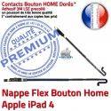 PACK A1458 iLAME Joint Nappe N HOME Tactile KIT Outils Precollé Tablette Cadre Adhésif Réparation iPad4 Noire Verre Bouton Vitre Apple
