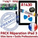 PACK iPad3 A1430 N Noire Qualité Precollé Bouton KIT Tactile Oléophobe iPad Outils PREMIUM Verre Réparation 3 Adhésif HOME Vitre Démontage