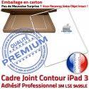PACK iPad 3 A1430 iLAME Joint B Precollé Vitre Cadre Adhésif iPad3 Blanche Bouton Apple Tablette HOME PREMIUM Outils Tactile Verre Réparation