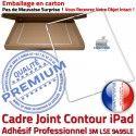 Joint Plastique iPad B Tactile Cadre Châssis Vitre Contour Tablette Blanc Autocollant Apple Adhésif Precollé ABS Réparation Ecran