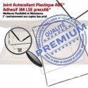 Joint Plastique iPad 2 B Réparation Châssis Contour Adhésif Tactile Autocollant Vitre Ecran Precollé iPad2 Apple ABS Tablette Cadre Blanc