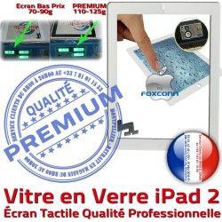 Vitre Apple A1395 Blanc Bouton iPad2 iPad PREMIUM Remplacement Precollé Tactile Fixation Qualité A1396 Oléophobe PB Nappe A1397 Caméra Ecran HOME 2 Adhésif Verre
