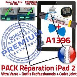 Verre 2 HOME Bouton KIT Precollé PACK Adhésif Apple Vitre iLAME Chassis iPad Noire Tactile Cadre iPad2 Outils Réparation Joint A1396 N Tablette