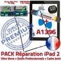 PACK iPad 2 A1396 iLAME Joint N Chassis KIT Precollé Vitre iPad2 Réparation Noire Verre Adhésif Tablette Bouton Apple HOME Cadre Tactile Outils