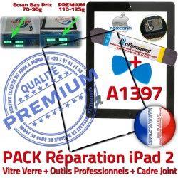 HOME N iLAME Outils Verre Tablette iPad2 Vitre Tactile Noire Chassis A1397 PACK Cadre iPad Bouton Precollé KIT 2 Adhésif Apple Joint Réparation