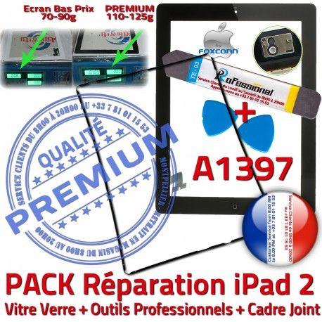 PACK iPad 2 A1397 iLAME Joint N Noire Tactile Adhésif Apple Chassis Tablette HOME Bouton Vitre Precollé KIT Cadre iPad2 Réparation Outils Verre