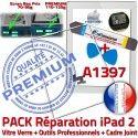 PACK iPad 2 A1397 iLAME Joint B Vitre Outils HOME Adhésif Cadre Tactile Verre PREMIUM Blanche Réparation Apple Precollé iPad2 Bouton Tablette