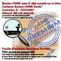 iPadMINI A1432 A1454 A1455 Noir Tactile Nappe Caméra Tablette Adhésif Ecran Monté Filtre Home Oléophobe Bouton MINI Vitre iPad Verre IC Réparation Fixation