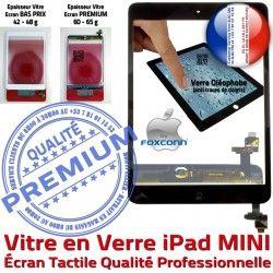 A1454 iPad Monté Bouton Ecran MINI Oléophobe Adhésif A1455 Verre Nappe iPadMINI Vitre Home IC Caméra Réparation Filtre Tablette Fixation Tactile Noir A1432