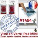 iPad Mini1 A1454 Blanc Monté Tablette Filtre Tactile Vitre Fixation Bouton Caméra Oléophobe Home Réparation Ecran Verre Nappe Adhésif