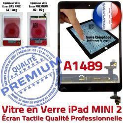Verre Adhésif Ecran Home Vitre Tactile Noir Filtre Réparation Tablette Fixation Monté Bouton iPad Oléophobe A1489 Nappe Mini2 Caméra