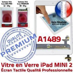 Réparation Tablette Verre Fixation Oléophobe Blanc Mini2 Filtre Tactile iPad Monté Caméra Bouton Nappe Home Ecran Vitre A1489 Adhésif