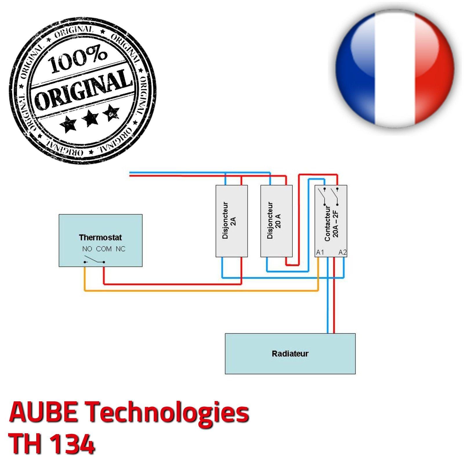 Programmateur 3 zones fil pilote aube th134 lectronique horaire pr programm commande chauffage for Programmateur chauffage electrique fil pilote zones