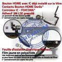 iPad Mini3 A1599 Noir Nappe Adhésif Oléophobe Vitre Verre Bouton Filtre Fixation Monté Tactile Réparation Ecran Tablette Home Caméra