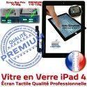 iPad4 Apple A1458 A1459 A1460 PN Vitre HOME 4 Verre Tactile iPad Precollé Qualité Fixation Bouton Remplacement Oléophobe Caméra Ecran PREMIUM Adhésif Noir