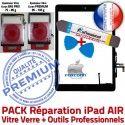 PACK AIR A1474 A1475 A1476 N Noire PREMIUM Tablette Outil Adhésif HOME Tactile Precollé Verre en Bouton iPad Réparation Démontage Nappe KIT Vitre Qualité