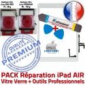 PACK iPad 5 AIR B Réparation Outils Bouton Blanche KIT Precollé Adhésif Nappe iLAME Qualité Verre Vitre PREMIUM Oléophobe Tactile HOME