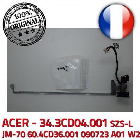 ACER Left Hinge Fixations PC W2 090723 34.3CD04.001 JM-70 60.4CD36.001 LCD A01 Portable Charnière écran ORIGINAL SZS-L Gauche Montant