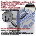 iPadAIR A1474 A1475 A1476 Blanc Tactile AIR Vitre PREMIUM Verre HOME iPad Fixation Adhésif Oléophobe Qualité Bouton Remplacement Caméra Precollé A++ Ecran