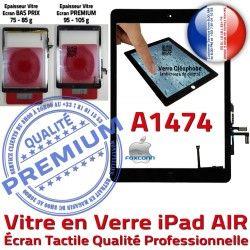 Verre HOME A1474 Adhésif Ecran AIR Tactile Réparation Caméra Oléophobe Qualité Fixation Noir Monté Tablette Vitre IC Nappe iPad