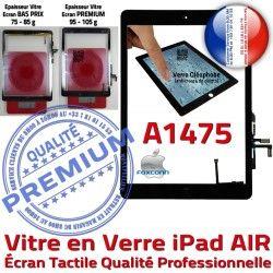 AIR Nappe HOME Oléophobe Vitre Qualité Caméra Noir Monté Tablette iPad Ecran Réparation IC Fixation A1475 Adhésif Verre Tactile
