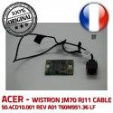 ORIGINAL Modem 56K T60M951.36 LF Acer ASPIRE CABLE 50.4CD10.001 T60M951.36 LF Board WISTRON JM70 RJ11 CABLE 50.4CD10.001 T60M951