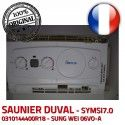 Saunier Duval SYMSI7.0 08/48 electronique d'allumage S0080 10024 Carte IND C24 0020036711 0310144400R18 Thema 6973 E 3 V KWD