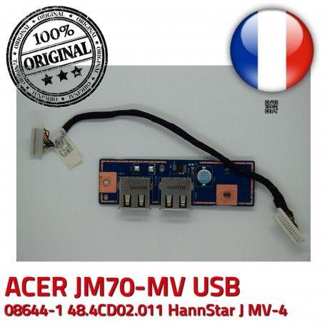 ACER USB JM70 MV MV-4 Board 50.4CD09.011 Ports BD Cable 48.4CD02.011 94V-0 E89382 JM70-MV ORIGINAL J HannStar Module