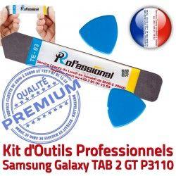 Tactile Réparation KIT Remplacement Galaxy 2 Qualité Ecran iSesamo Professionnelle Outils GT Samsung Compatible Vitre iLAME TAB Démontage P3110