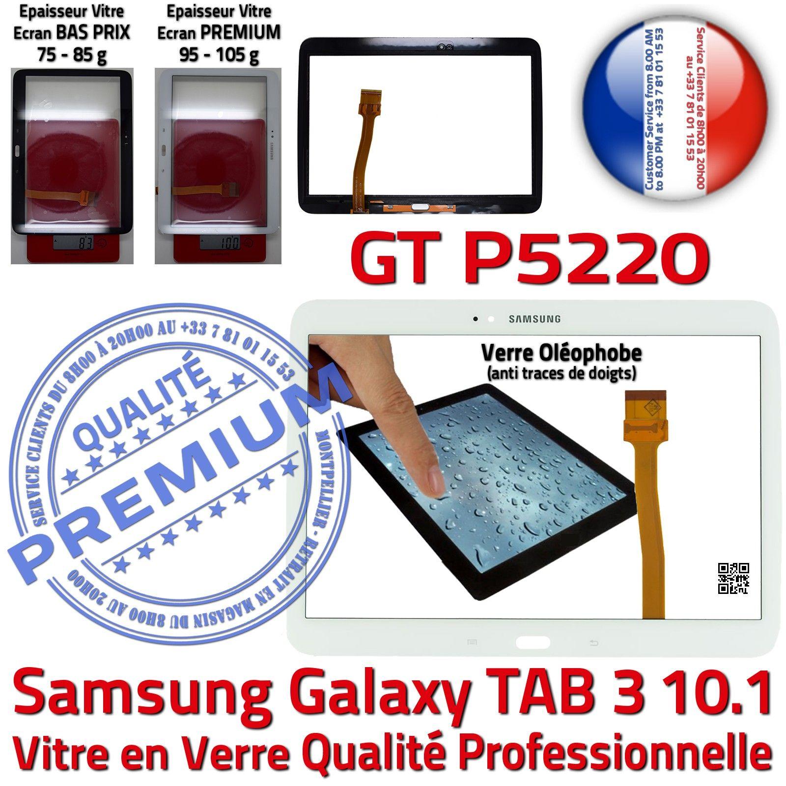 Samsung galaxy tab3 gt p5220 10 1 vitre tactile blanche en for Photo ecran galaxy tab 3
