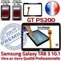 Samsung Galaxy TAB 3 GT-P5200 N en Assemblée 10.1 Prémonté Verre Adhésif PREMIUM TAB3 LCD Tactile Vitre P5200 Qualité GT Ecran Supérieure Noire
