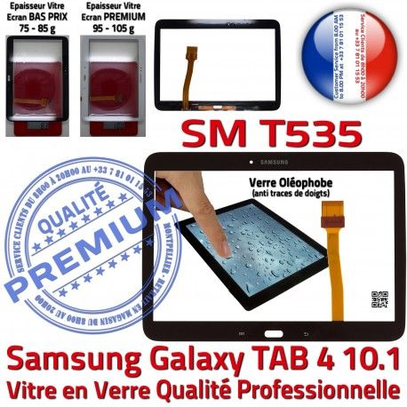 Samsung Galaxy TAB 4 SM-T535 N Noire Prémonté Assemblée PREMIUM T535 Vitre Qualité Adhésif SM 10.1 TAB4 Ecran LCD Supérieure Tactile Verre en