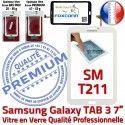 Samsung Galaxy TAB 3 SM-T211 B Adhésif LCD Prémonté TAB3 SM T211 Qualité Blanche Tactile 7 PREMIUM Supérieure Ecran Assemblée en Vitre Verre