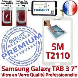 Tab3 SM-T2110 Adhésif Samsung TAB3 Supérieure Qualité Tactile LCD B en PREMIUM Vitre Galaxy Verre 7 Prémonté Assemblée Ecran Blanche