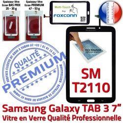 Noire 3 Prémonté SM-T2110 Adhésif N 7 T2110 Galaxy Samsung Qualité Tactile SM TAB3 Assemblée Verre TAB Ecran LCD en PREMIUM Supérieure Vitre