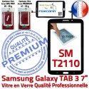 Samsung Galaxy SM-T2110 Tab3 N Adhésif Prémonté Assemblée PREMIUM TAB3 en 7 Qualité Vitre Noire Supérieure Verre Tactile Ecran LCD