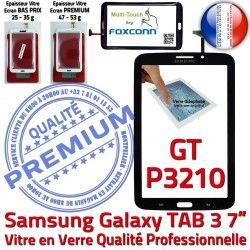 Tactile TAB3 LCD Verre Qualité Assemblée PREMIUM Adhésif Galaxy Tab3 Vitre 7 Supérieure Noire Ecran en N Samsung Prémonté GT-P3210