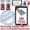 Samsung Galaxy TAB 3 SM-T210 N 7 Tactile SM Prémonté Assemblée T210 Verre Vitre TAB3 Adhésif PREMIUM en Ecran Supérieure Noire Qualité LCD