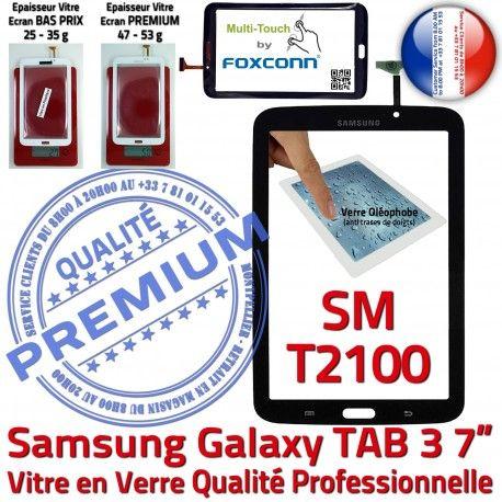 Samsung Galaxy TAB 3 SM-T2100 N 7 Prémonté Supérieure SM Vitre T2100 PREMIUM en Tactile Verre Ecran Qualité Adhésif LCD TAB3 Assemblée Noire