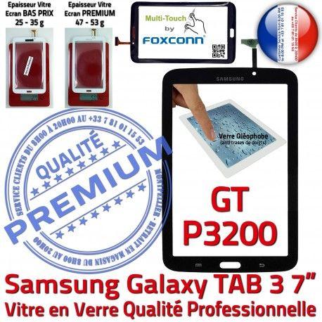 Samsung Galaxy GT-P3200 Tab3 N Assemblée en 7 TAB3 Prémonté Supérieure P3200 LCD GT Verre Noire PREMIUM Tactile Vitre Adhésif Qualité Ecran