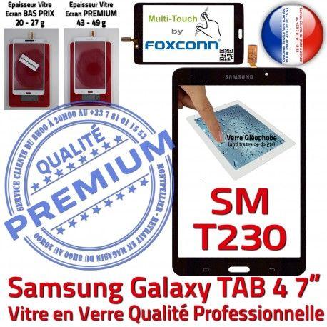 Samsung Galaxy TAB 4 SM-T230 N TAB4 Prémonté Verre SM PREMIUM T230 Assemblée Supérieure Adhésif Vitre Ecran Qualité Noire inch Tactile 7 LCD