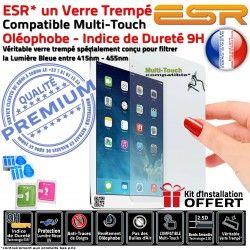 Ecran Rayures Vitre Verre Trempé Chocs UV Apple TraceFiltre AIR 9H ESR Multi-Touch Oléophobe Protection Anti iPad Bleue Lumière