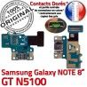 Samsung Galaxy GT-N5100 NOTE C MicroUSB Nappe Contact Doré Charge Chargeur Qualité de Connecteur N5100 GT Réparation ORIGINAL OFFICIELLE