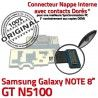 Samsung Galaxy GT-N5100 NOTE C ORIGINAL de Doré Charge OFFICIELLE Qualité N5100 Nappe Contact MicroUSB Réparation Connecteur GT Chargeur