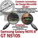 Samsung Galaxy GT-N5105 NOTE C MicroUSB Charge ORIGINAL GT Connecteur Doré Réparation Qualité Contact N5105 de OFFICIELLE Chargeur Nappe