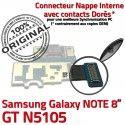 Samsung Galaxy GT-N5105 NOTE C de Contact Chargeur Doré MicroUSB Nappe Connecteur Réparation GT Qualité Charge ORIGINAL OFFICIELLE N5105