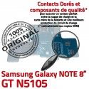 Samsung Galaxy GT-N5105 NOTE C ORIGINAL Chargeur N5105 Contact Charge MicroUSB Nappe de Doré OFFICIELLE GT Connecteur Réparation Qualité