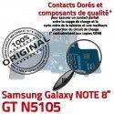 GT-N5105 Micro USB NOTE Charge Doré Réparation GT OFFICIELLE Connecteur Contact Qualité Samsung Chargeur MicroUSB de ORIGINAL Nappe Galaxy N5105